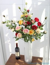 1 PCS Beautiful Fake Artificial Flower Long Stem Silk Rose Wedding Home ... - $4.95