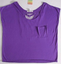 Women Top XL Purple Solid  Sleeveless Polyester Rayon  Love by Design 1799 - $13.55