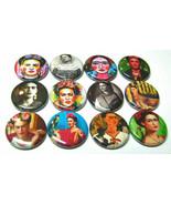 "12 FRIDA KAHLO - 1"" Kitchen MAGNETS Button Fridge Magnet Mexican Folk Artist - $12.34"