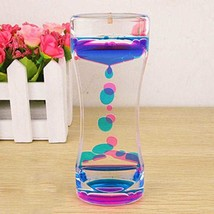 Floating Liquid Illusion Timer Oil Hourglass Motion Color Mix Desktop To... - $6.85
