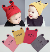 Newborn Baby Girl Boy Cute Cat Autumn Winter Comfortable Warm Knitted Ha... - $5.99