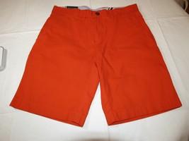 "Men's Tommy Hilfiger 40 9"" Inseam shorts 810 orange 78B5064 casual TH - $32.66"