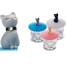 Tangser Silicone Cats Cup Lid, Anti-dust Tea Cup Covers,Coffee Mug Cover... - $16.11
