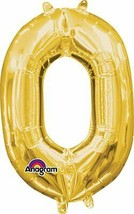"""Amscan 3307530 Air‑Filled Letter 0"""" Balloons 16"""" Gold - $4.89"""