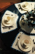Crochet Round Table Place Mats Centerpiece Hot Pad Coaster Apron Napkin ... - $6.99