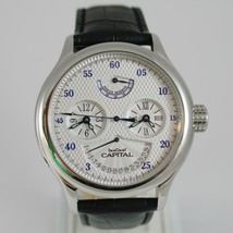 CAPITAL WATCH AUTOMATIC TY2545 MOVEMENT 40 RUBIES POWER RESERVE DOUBLE TIME ZONE image 1