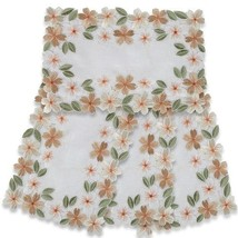 EASTER PLACEMATS FABRIC SPRING FLOWERS EMBROIDE... - $29.65