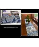 """Better Homes & Gardens Blue Global Stripe Decor Table Runner 72"""" x 14"""" - $9.99"""
