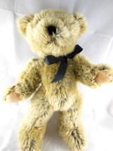 "Dan Dee Collectors Choice Teddy Bear 14"" Unique 2 toned pile fur black with tan - $14.84"