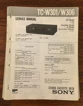 Sony TC-W301 TC-W306 Cassette Service Manual *Original* - $13.08