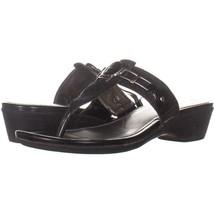 Marc Fisher Amina2 Thong Flip Flop Sandals 649, Black Multi, 9 US - £15.40 GBP