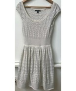 AE American Eagle Outfitters Sweater Dress Cream Size S Small Cap Sleeve - $16.95