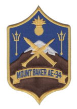"""5"""" NAVY AE-34 USS MOUNT BAKER EMBROIDERED PATCH - $23.74"""
