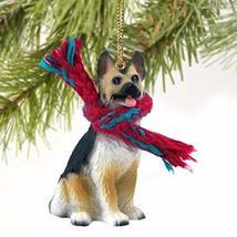 German Shepherd Miniature Dog Ornament - Tan & Black - $10.99