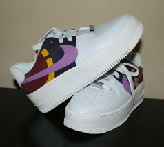 Nike Women's Air Force 1 Sage Low LX Grey Dark Orchid BV1976 003 Size 6 - $96.75