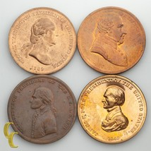 US President Mint Medals Washington, Jefferson, Adams, Polk - $28.71