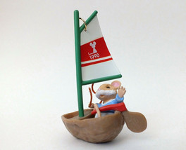 Hallmark 1990 Mouseboat by Ed Steale Christmas Ornament In Box - Very Good - $7.07
