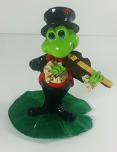 Frog Playing Violin Figure 3in Victoria Impex Tuxedo Top Hat Figurine Vi... - £12.03 GBP