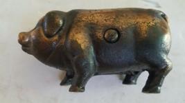 Vintage Cast Iron Pig Bank Copper Wash - $39.59