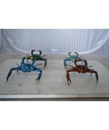 Decorative Crab Bronze Statue – Blue, Green, Light Blue and Brown - $120.00