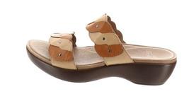 Dansko Double Strap Slip-on Sandals Dee Carmel/Sand 38=7.5-8US NEW A264870 - $111.85