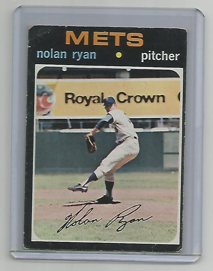 1971 Topps Nolan Ryan - Wih Signature - New York Mets - #513