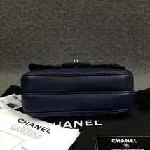 AUTH BNIB CHANEL 2018 DARK NAVY QUILTED CAVIAR LARGE MINI FLAP BAG RECEIPT  image 4