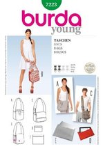 BURDA 7223 STYLE BAGS (BAGS, PURSE, TOTE, WALLET) 3 STYLES /5 SIZES ~ SE... - $12.74