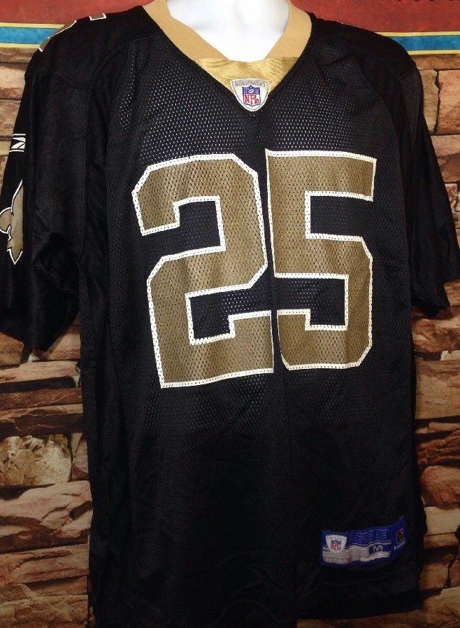 71b68af2846 New Orleans Saints Jersey Reggie Bush Authentic Reebok Football Men s Large  Sewn