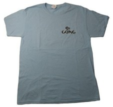 Qi gong Cherrywood Jerzees Blue Tshirt Tee Size Medium M Cotton Poly Blend - $19.99