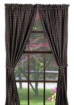 Olivia's Heartland country primitive Cambridge Navy Blue Panel curtains ... - $79.95