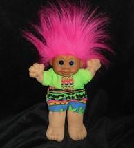 """11 """" Vintage Russ Troll Bambola Kidz Rosa Capelli Neon Vestito Peluche P... - $16.75"""
