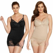 Rhonda Shear Pin-Up Lace Camisole 2-pack, Black/Nude, XS - $23.75