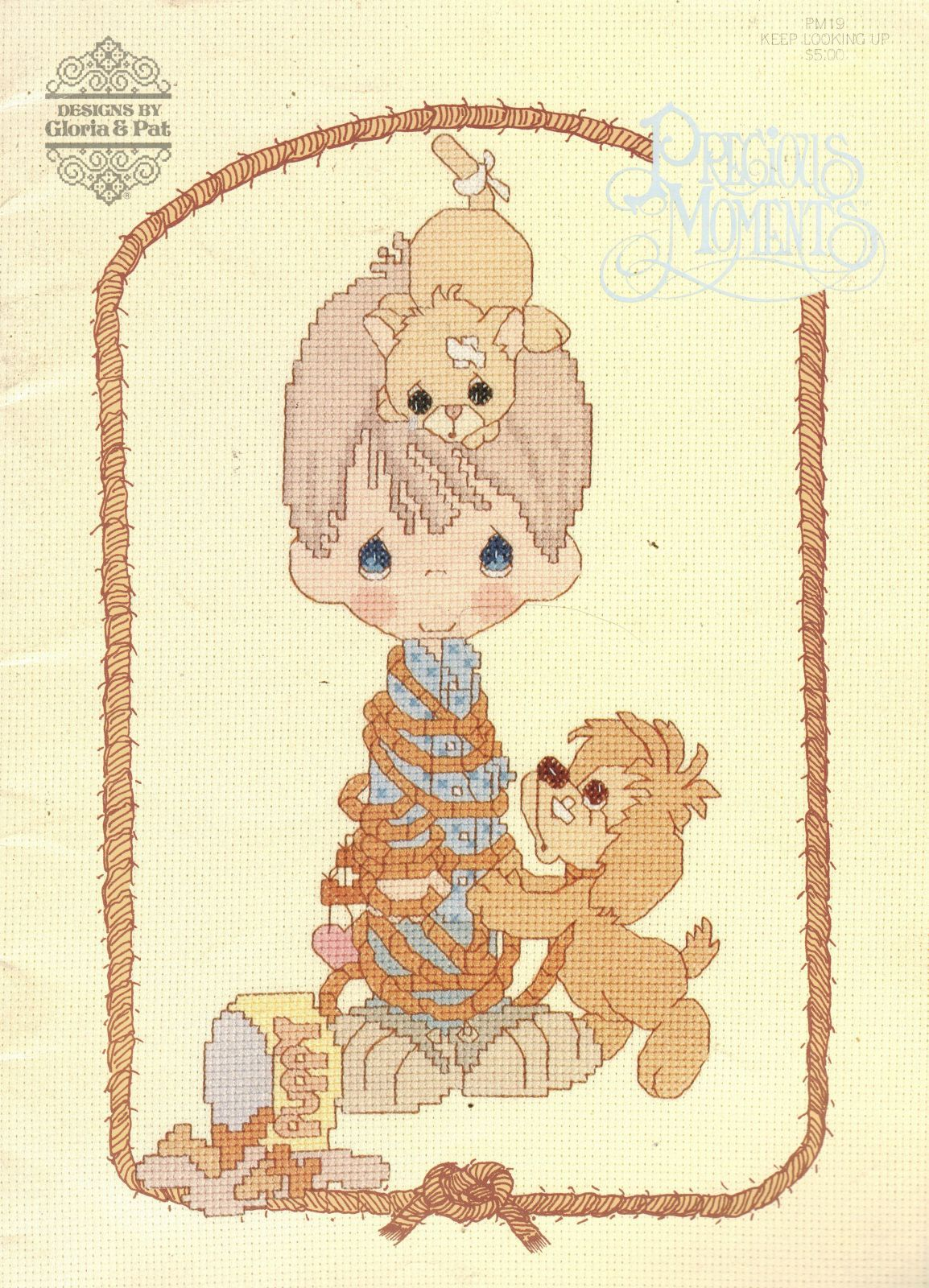 Primary image for Cross Stitch PRECIOUS MOMENTS Keep Looking Up Xmas Inspirational PM19 Patterns