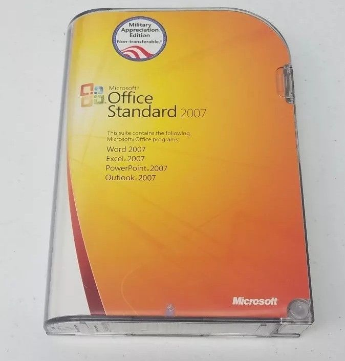 Microsoft Office Standard 2007 Military and 50 similar items