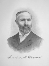 DR. LUCIEN WARNER New York Merchant & Philantropist - 1895 Portrait Print - $8.82