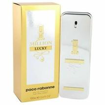 1 Million Lucky by Paco Rabanne Eau De Toilette Spray 3.4 oz for Men - $75.33
