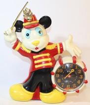 Etic Japan MICKEY MOUSE Band Leader QUARTZ Alarm CLOCK 1989 - $17.72