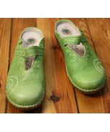 El Naturalista 38 Lime Green Open Back Clog Mules Mary Jane Yggdrasil N0... - $58.90