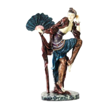 Fan Dancer Art Deco Dancer Sculptture - $78.00