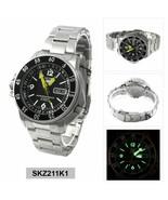 Seiko 5 Sports Men's SKZ211K1 Automatic Watch Land shark Map meter - $232.65