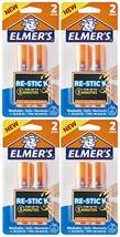 Lot of 8 Elmer's Re-Stick School Glue Sticks Washable Nontoxic , 0.28-Ounces
