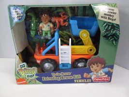 Fisher Price Go Diego Go! To-the-Rescue Extending Rescue Lift Vehicle BR... - $34.60