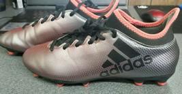 Adidas X 17.3 FG Mens Soccer Cleats DB1402 Grey/Core Black Size 7.5 - $34.54