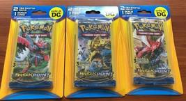 3 x Pokemon XY Breakpoint 2 Mini Booster Packs & 1 Bonus Card - $19.99