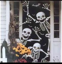 Halloween Scary Skeleton Door Cover or Wall Dec... - $7.68