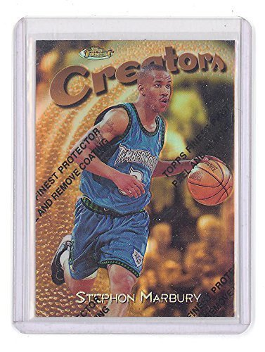 1997-98 Finest Stephon Marbury Gold Refractor 186/289 #324 Basketball Card