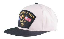 Motivation You Cant Win Naval Cream Beige Khaki Snapback Baseball Hat NWT image 2