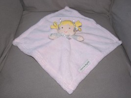 Blankets And Beyond Blonde Hair Girl Doll Pink Gray Bows Plush Security ... - $23.75