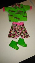 90s Barbie Fashion Neon Pink Leopard Print Great Weekend Hiking Shorts b... - $12.86